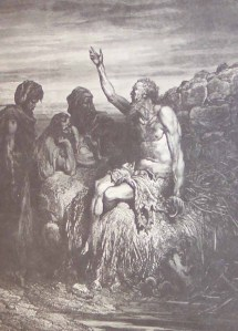"""Job and His Friends"" by Gustav Dore"