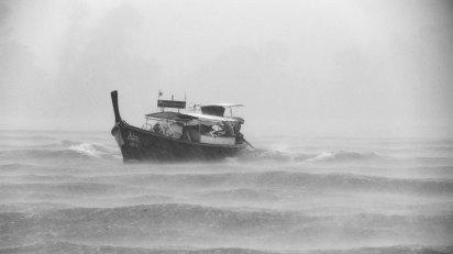 Boat in Storm by Jean-Pierre Brungs