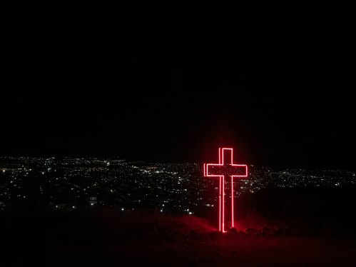Red Neon Cross by Diana Vargas-715578-unsplash